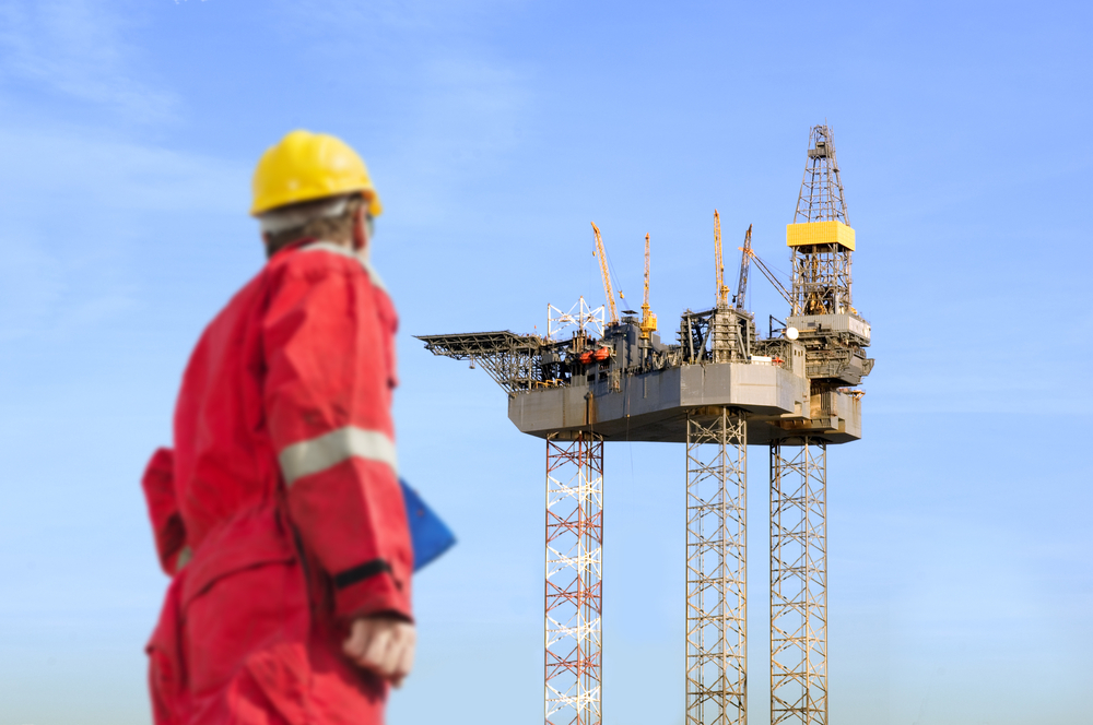 A jack-up rig.