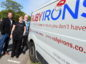 Oilman to ironman. The staff are pictured with vans at Duthie Park, Aberdeen. In the picture are from left: Fiona Ramsay, Johnny Montgomerie, Nicola Downie, and Murray Douglas.