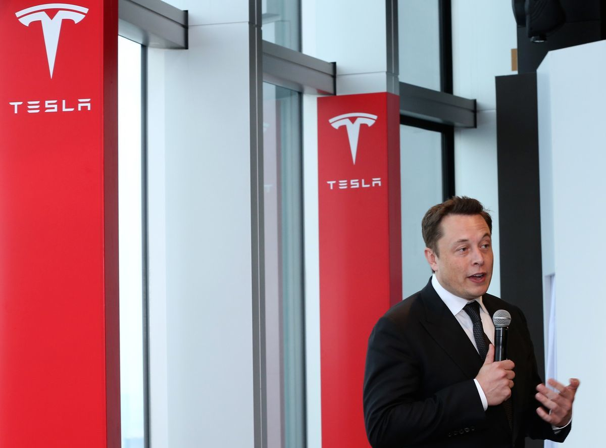 Elon Musk, co-founder and chief executive officer of Tesla Motors Inc., speaks during a news conference in Tokyo, Japan, on Monday, Sept. 8, 2014.  Photographer: Yuriko Nakao/ Bloomberg