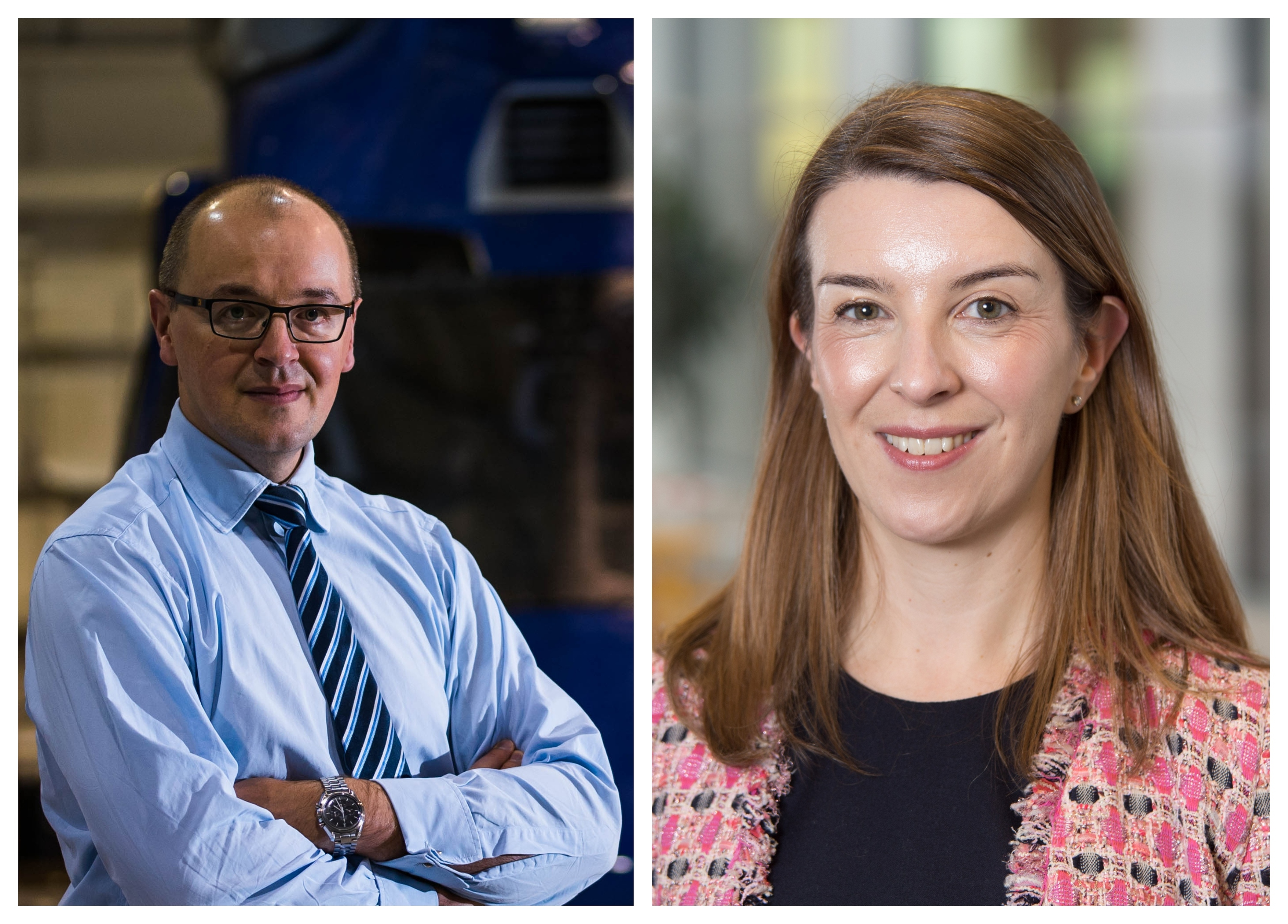 Rob Dyas, director of Babcock's UK offshore business and Tamsin Lishman, asset director at Spirit Energy