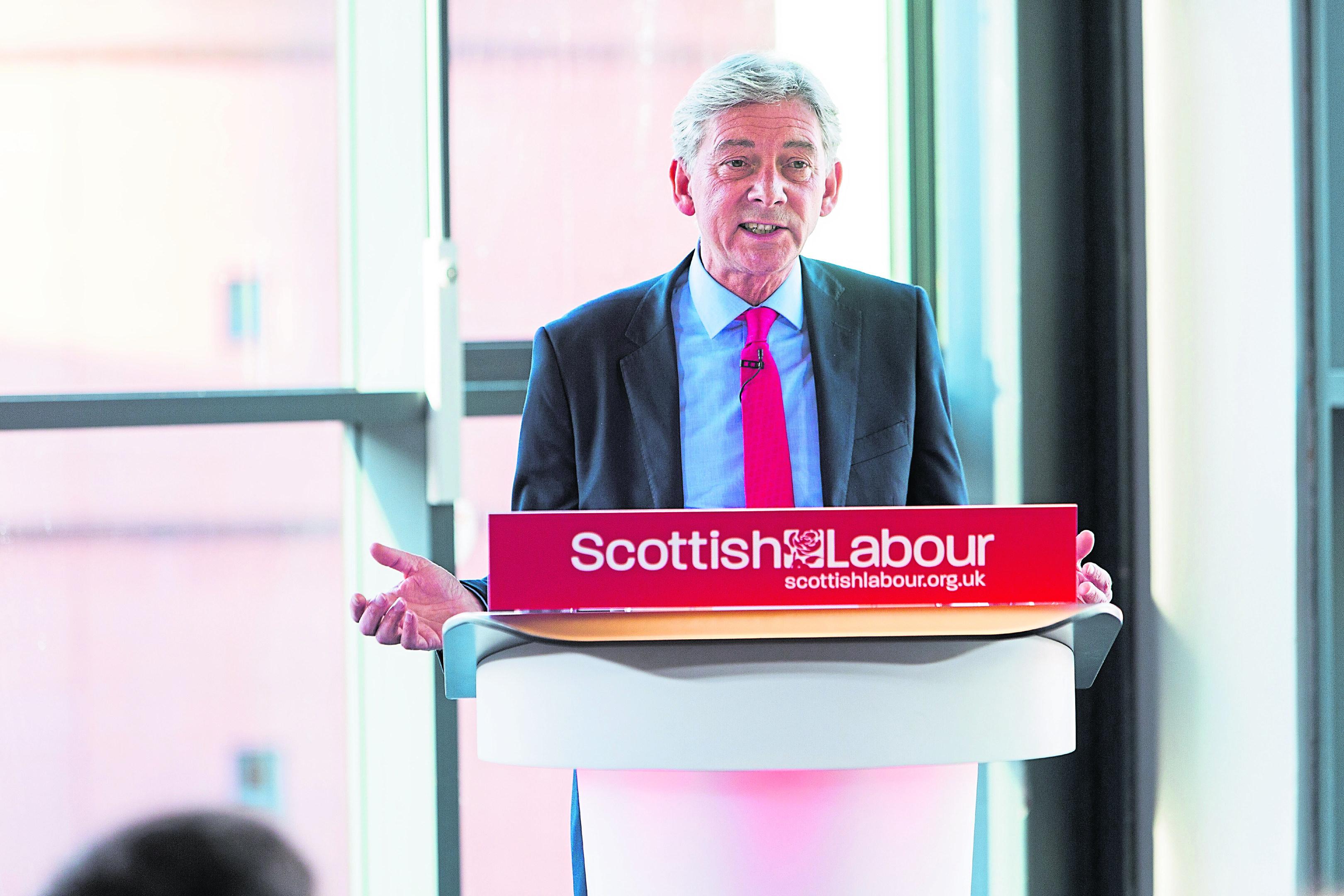Scottish Labour Leader Richard Leonard speaks at Abertay University