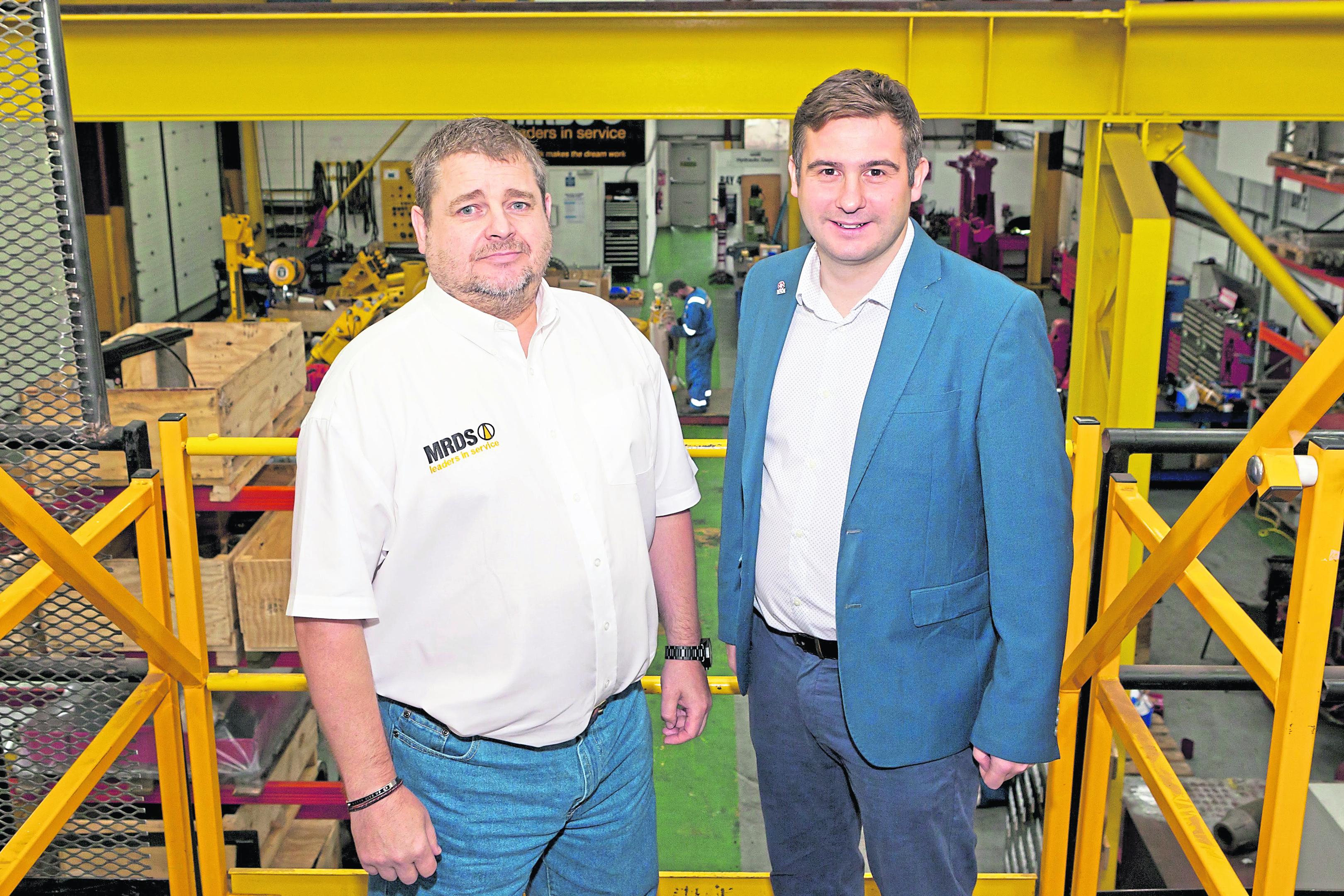 Mark Robertson and Ian McGillivray of MRDS.