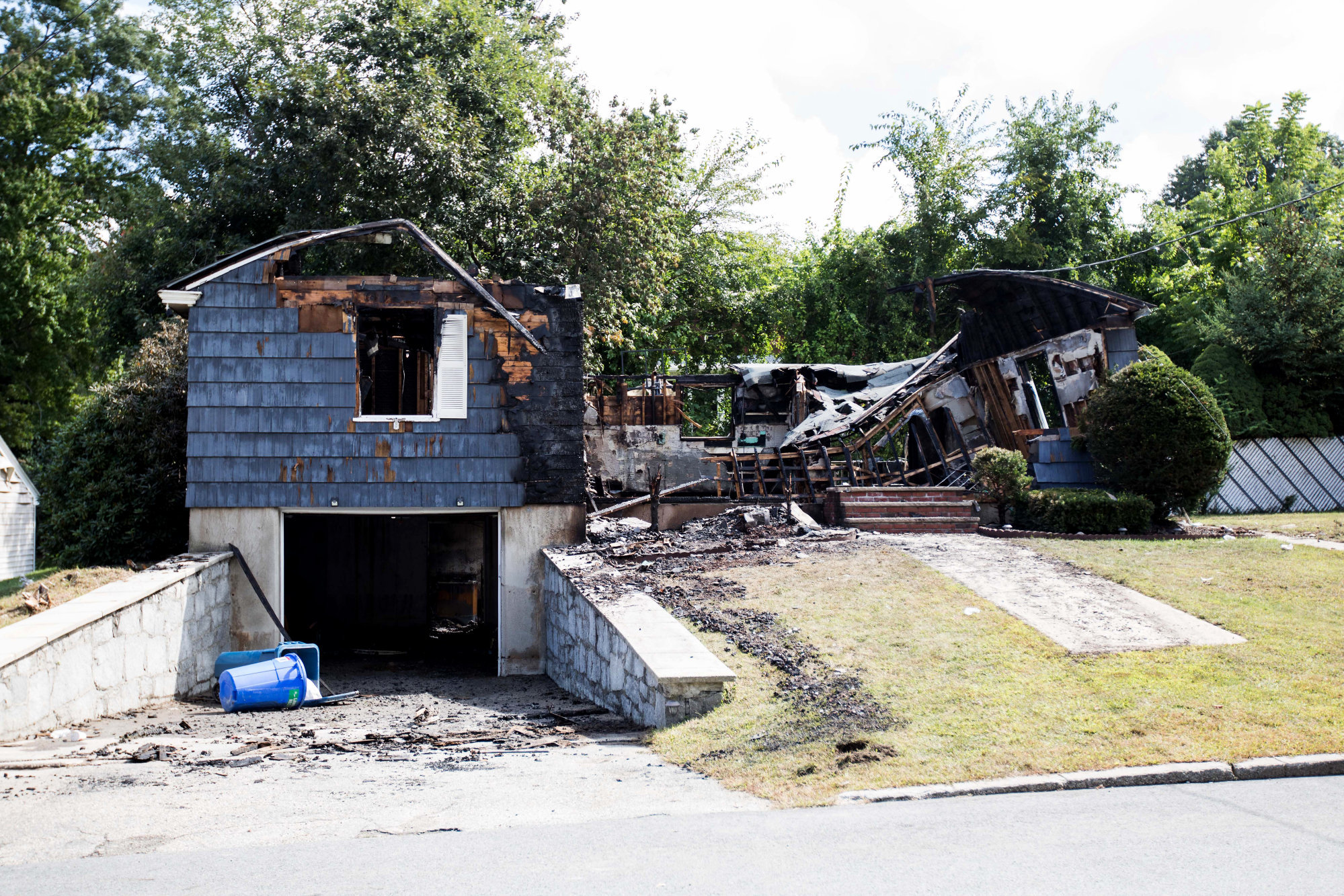 A home damaged by an explosion in Lawrence, Mass. Photographer: Scott Eisen/Bloomberg