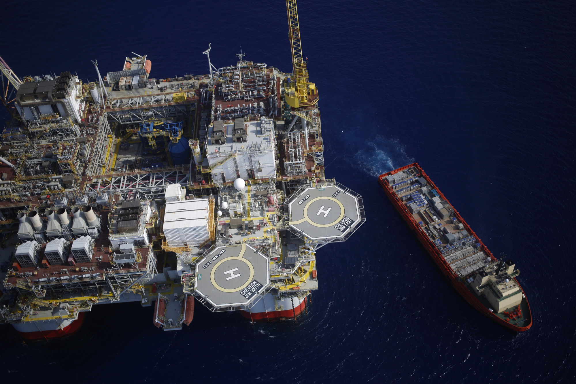 Workers have returned to oil platforms which were evacuated ahead of the storm