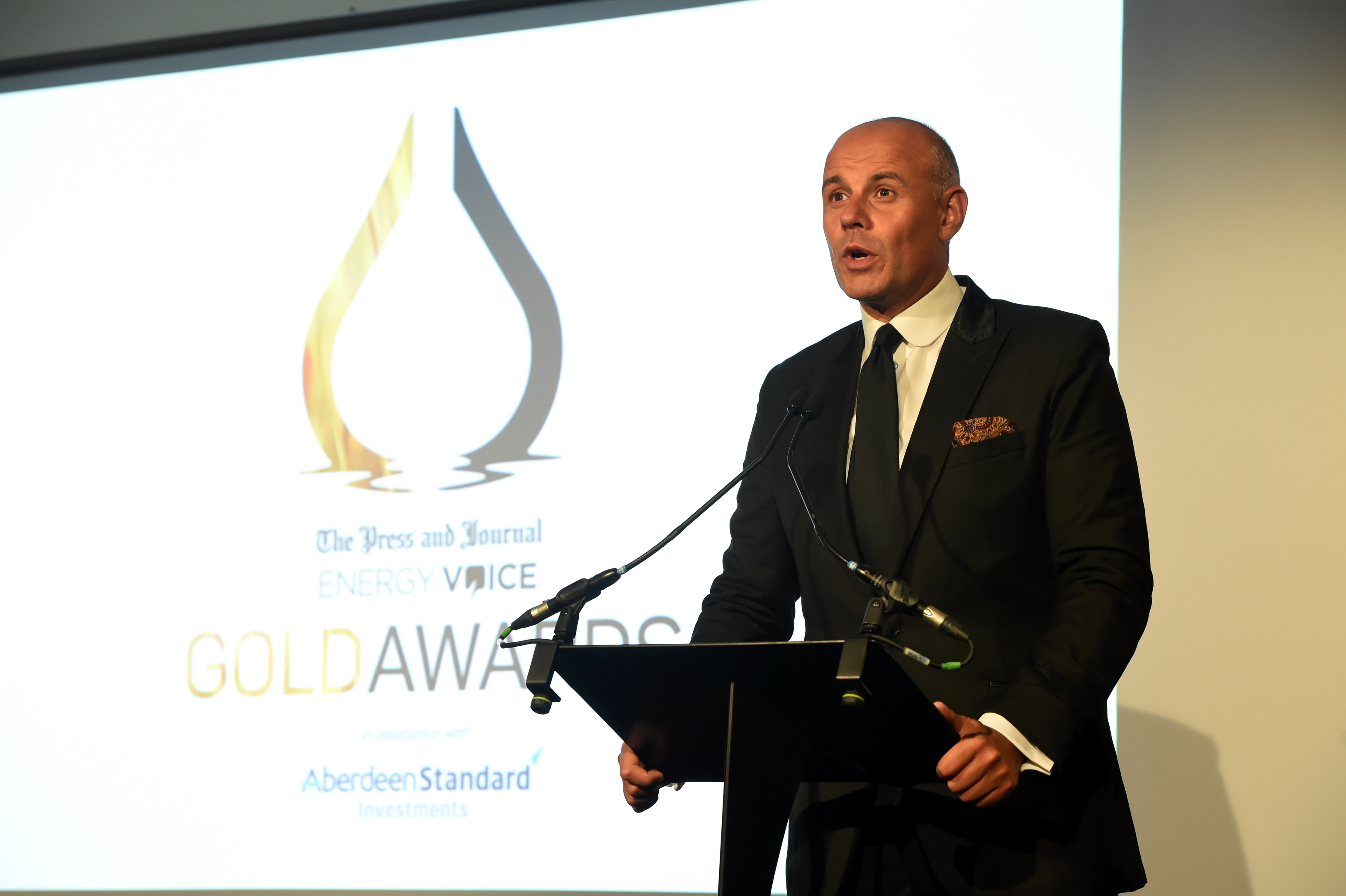 Press & Journal's Gold Awards 2018, at the Marcliffe Hotel.  Picture of the host for the evening, Jason Mohammad.  Picture by KENNY ELRICK     07/09/2018