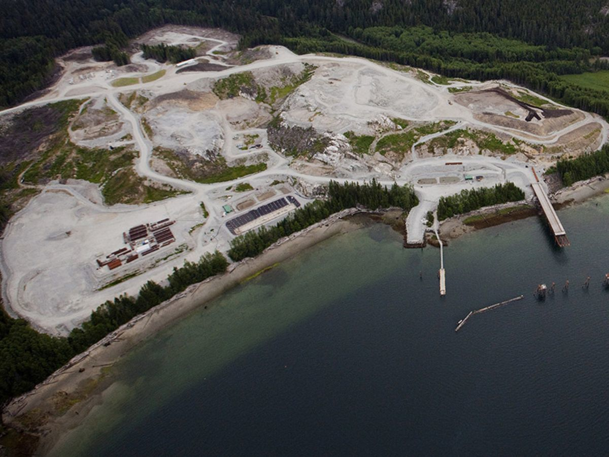 The Kitimat LNG site on the Douglas Channel near the town of Kitimat, British Columbia, Canada.