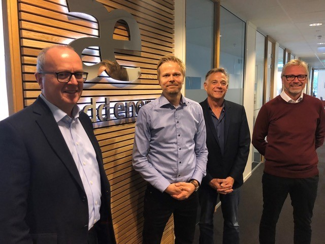 From left to right; Ole Rygg (CEO Add Energy group), Tom Dagstad (MD Novatech), Gabor Czegledy (Vela) and Per Arne Jensen (Chairman Add Energy Group).