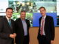 The new integrated operations centre at Repsol Sinopec, Aberdeen. In the picture are from left: Ross Thomson, MP, Bill Dunnett, Repsol Sinopec Uk Managing director and Andy Samuel, Oil and Gas Authority chief executive.