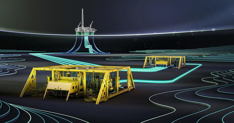 A rendering of the Nova field development.