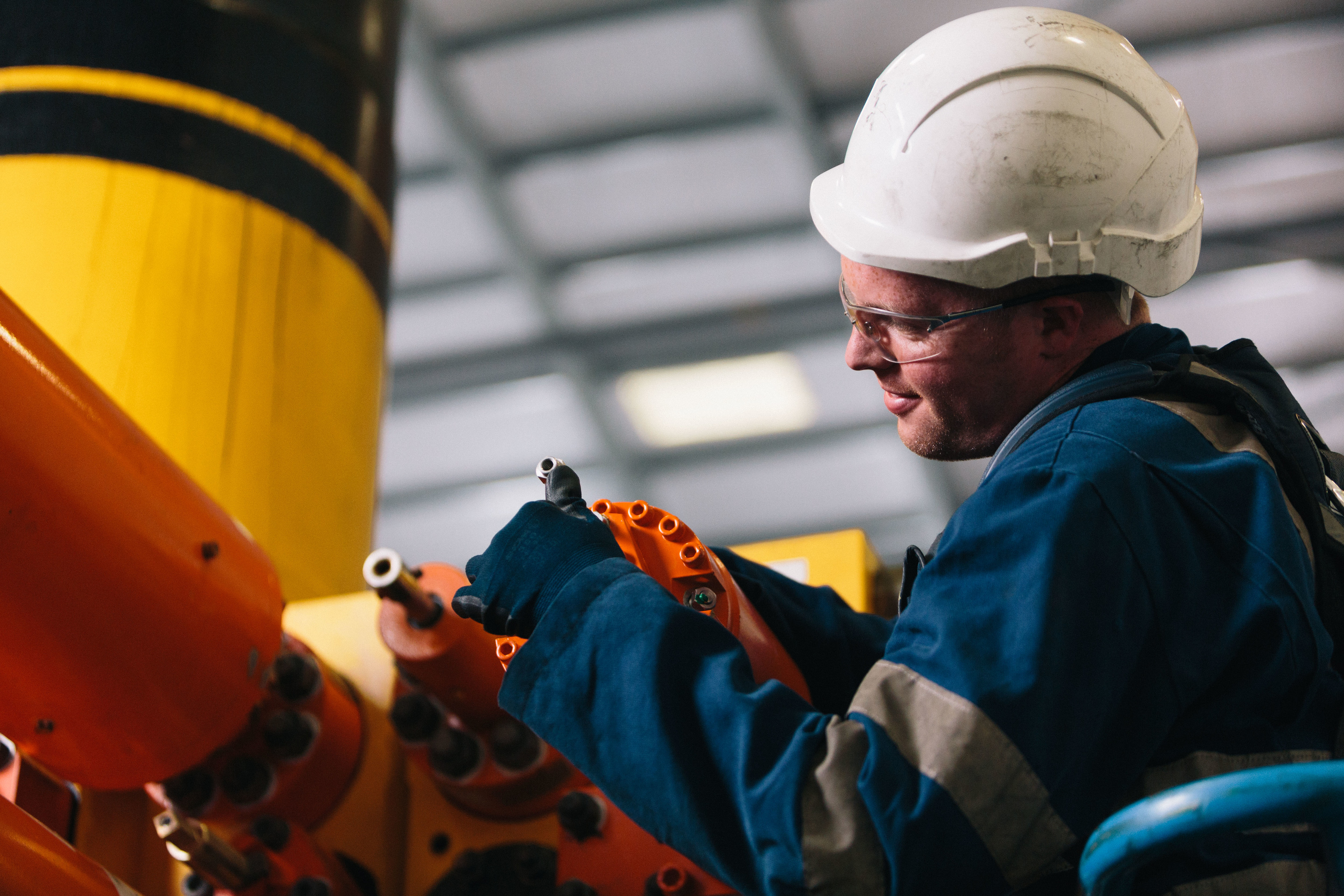 A BHGE worker