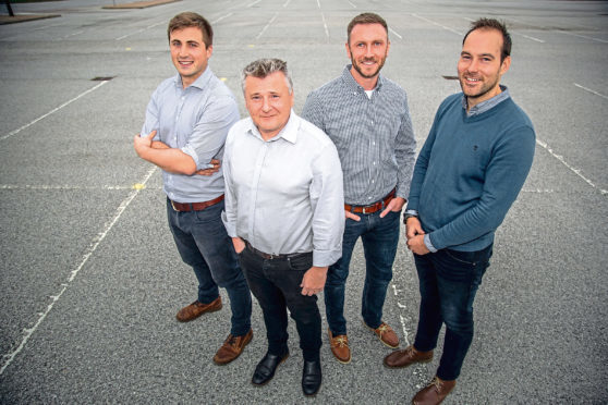 Douglas Hitchcock, Design Engineer; Craig Feherty, CEO; Kevin Rose, Applications Engineer; Mark Burton, Operations Manager at Well-SENSE