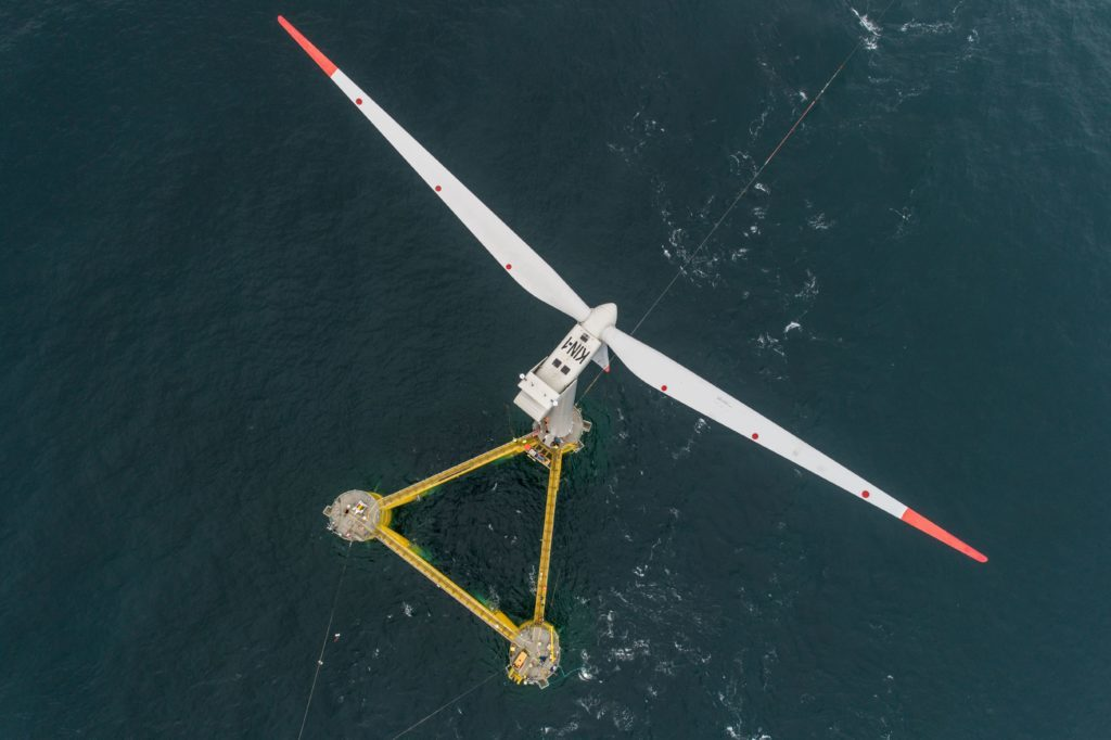First power generated from 'world's largest floating windfarm' off Aberdeen