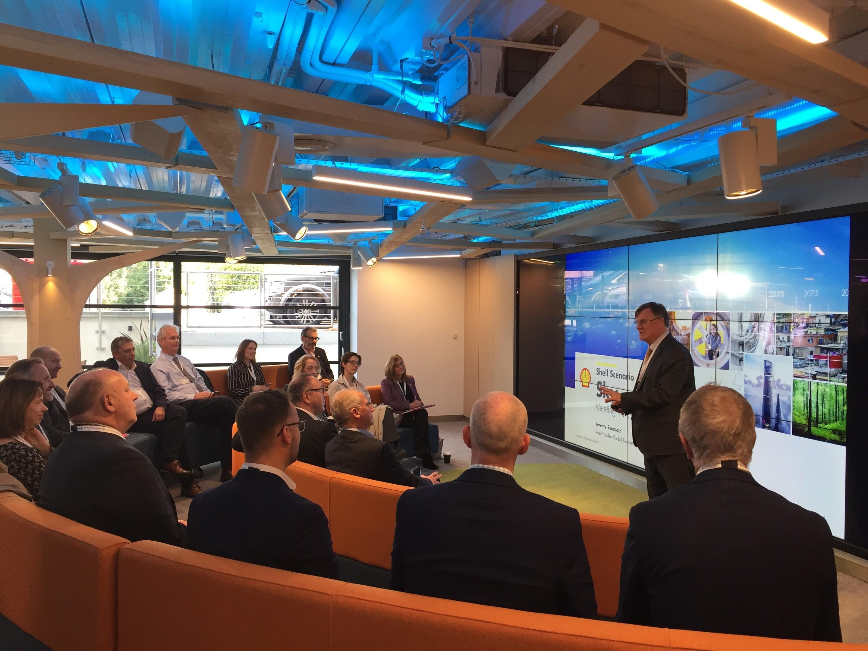 Jeremy Bentham delivering his presentation at the OGTC