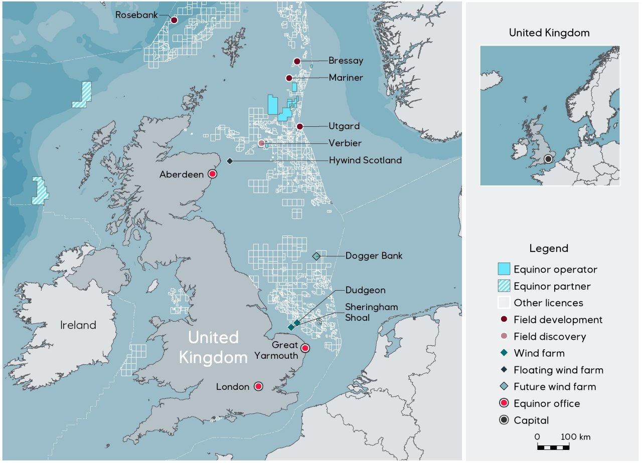 Map Of Uk Oil Fields.Equinor Confirms Deal For Chevron S Rosebank Stake News