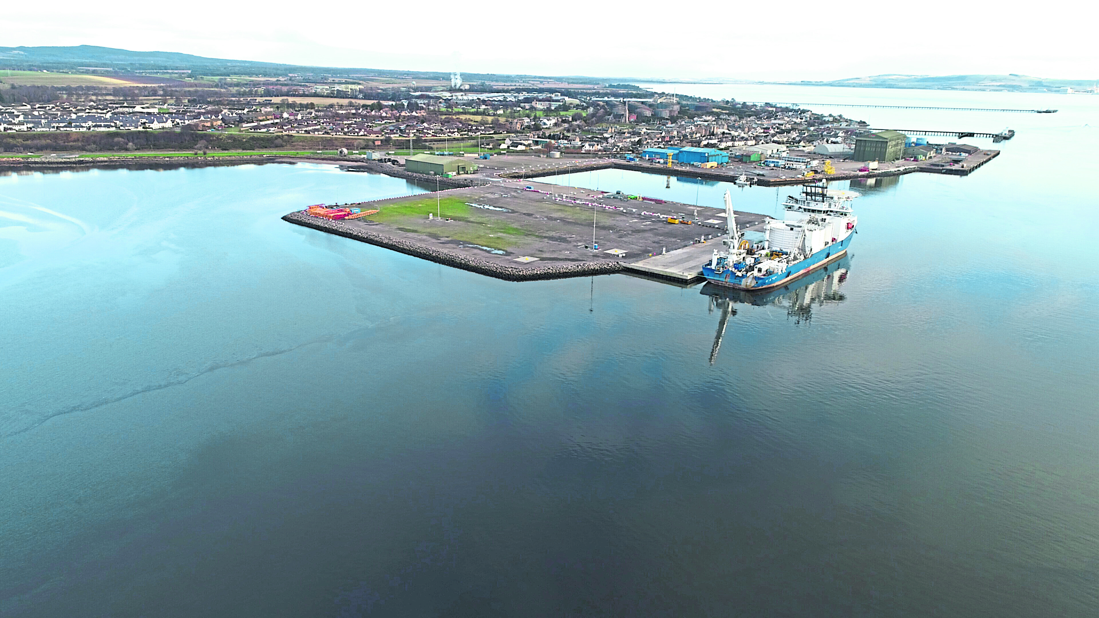 The site of the new quay at Port of Cromarty Firth