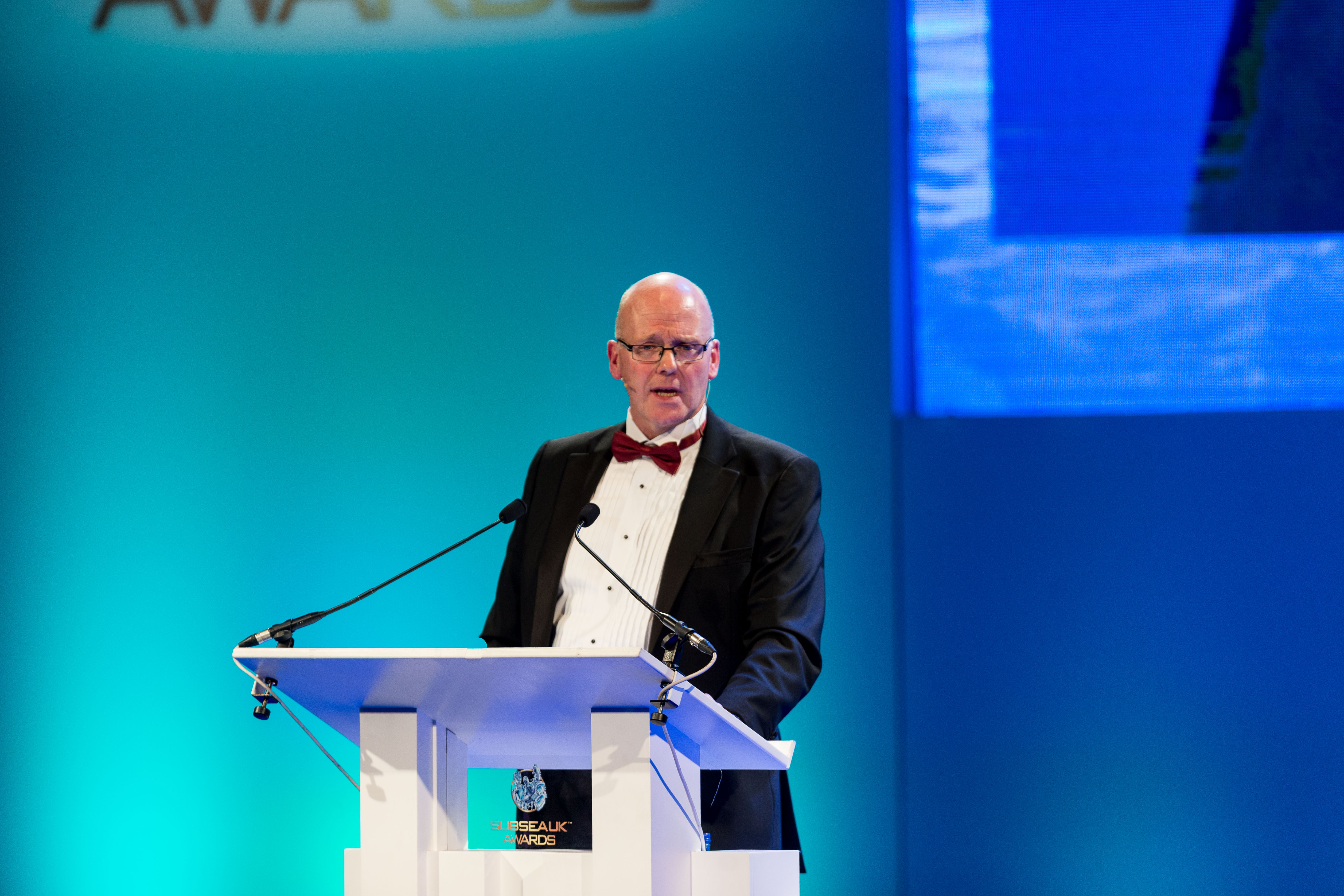 Subsea UK CEO Neil Gordon at the 2017 awards ceremony