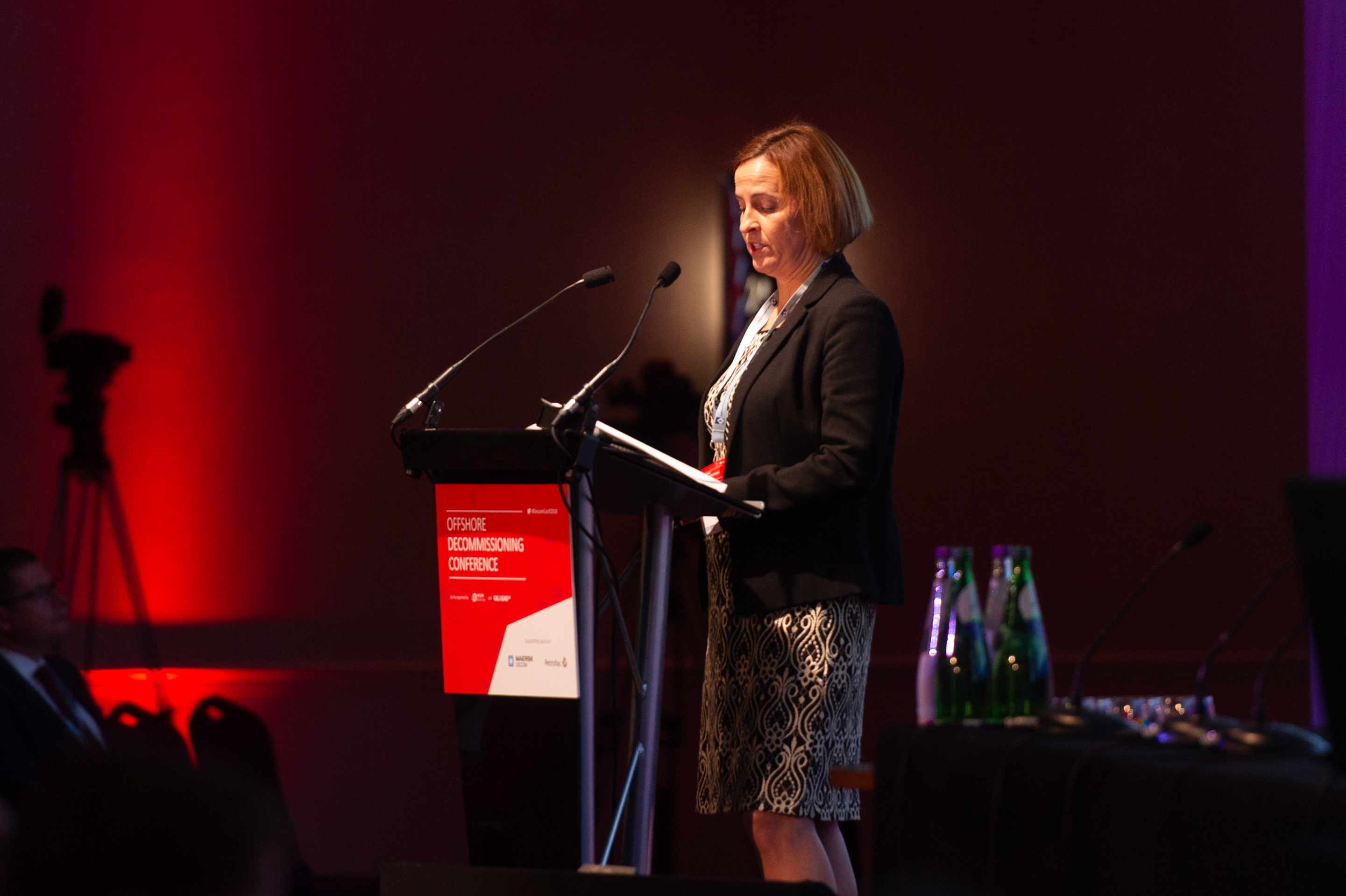 Pauline Innes (OPRED), at the Offshore Decommissioning Conference.