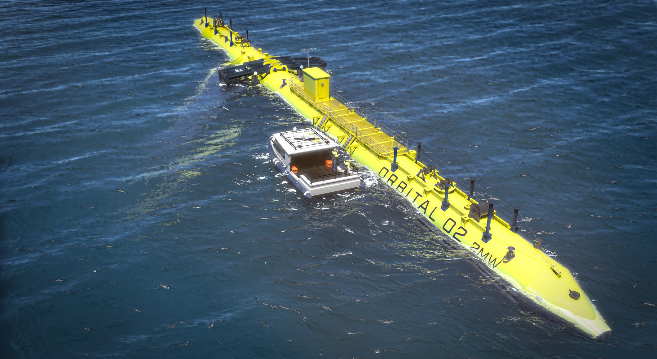 New Orbital Marine O2 tidal turbine design.