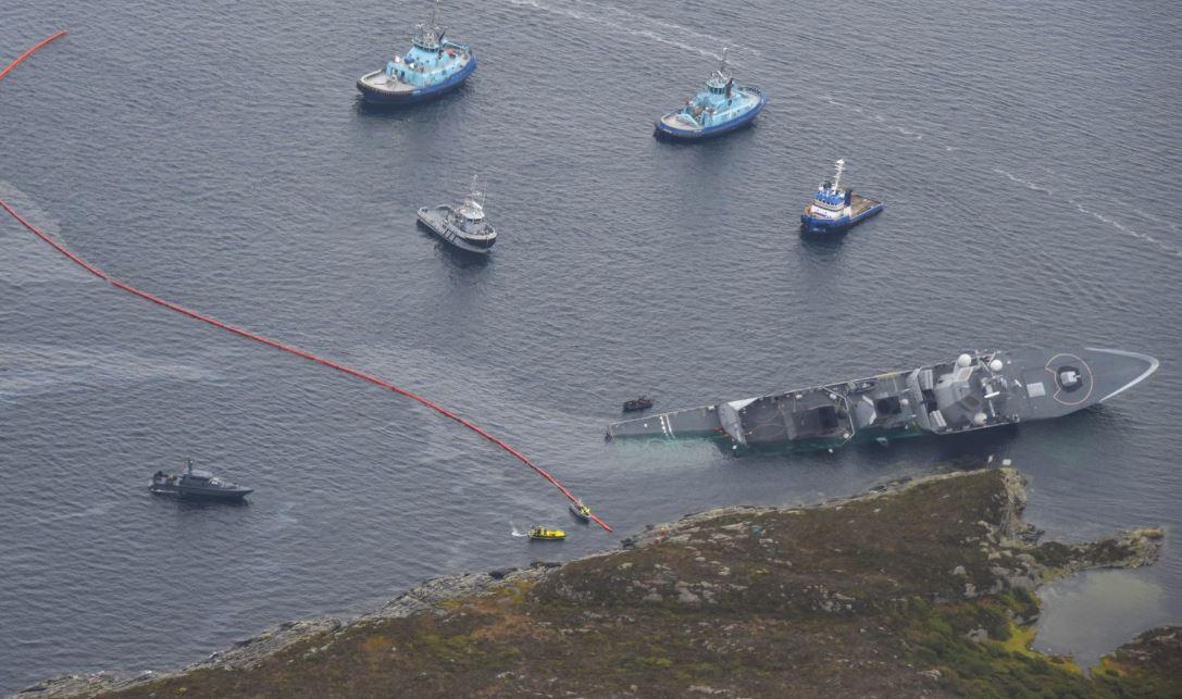 Sture ship sinks