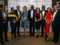From left: Adam Ayinla (Shell) Mopelola Oyetunji (CAN Offshore) Findlay Anderson (BHGE) Deirdre Michie, CEO Oil and Gas UK  Dr Ollie Folayan, AFBE-UK Scotland  Claire Hayward BP Samuel Elegbede WSP Sarah Weihmann  Azzam Younes ABB