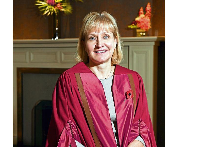 Deirdre Michie OBE is 'chuffed' to receive NESCOL Fellowship award