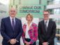 EIC CEO Stuart Broadley  (Left) Elizabeth Gammie, head of Aberdeen Business School and David Wilson, director of Oil, Gas and Energy at ONE.