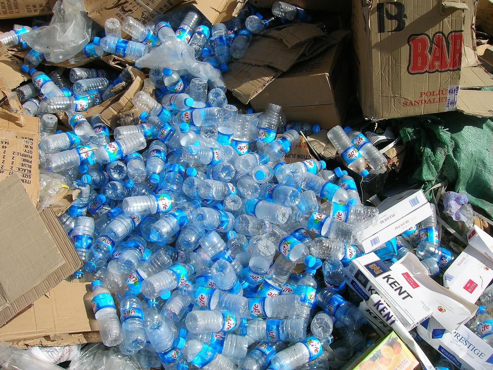 Plastic waste.