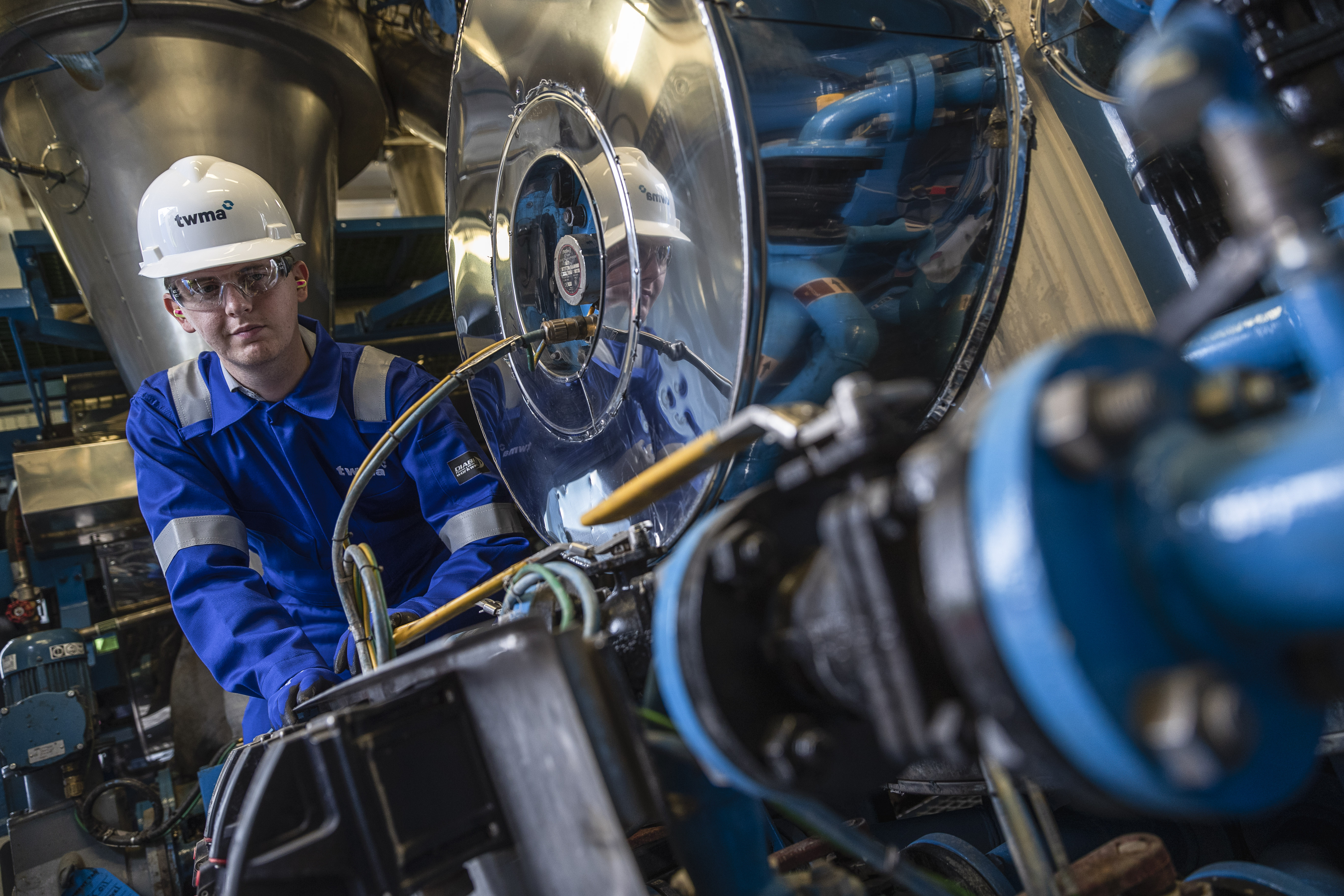 A worker at TWMA's Peterhead facility.
