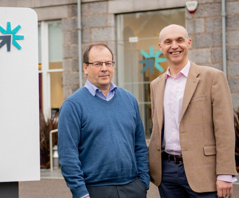 Return to Scene managing director Bob Donnelly (right), with the OGTC's Stephen Ashley