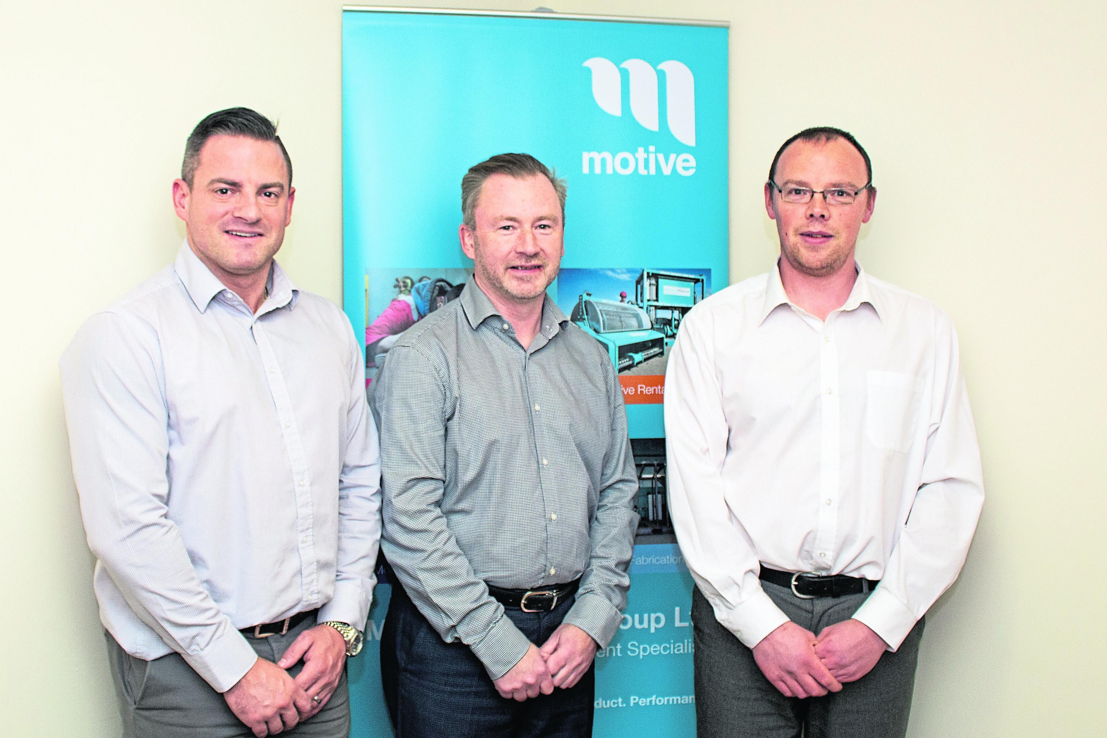 Motive Offshore MD Dave Acton, FD John Brebner, Sales & Operations Director James Gregg.