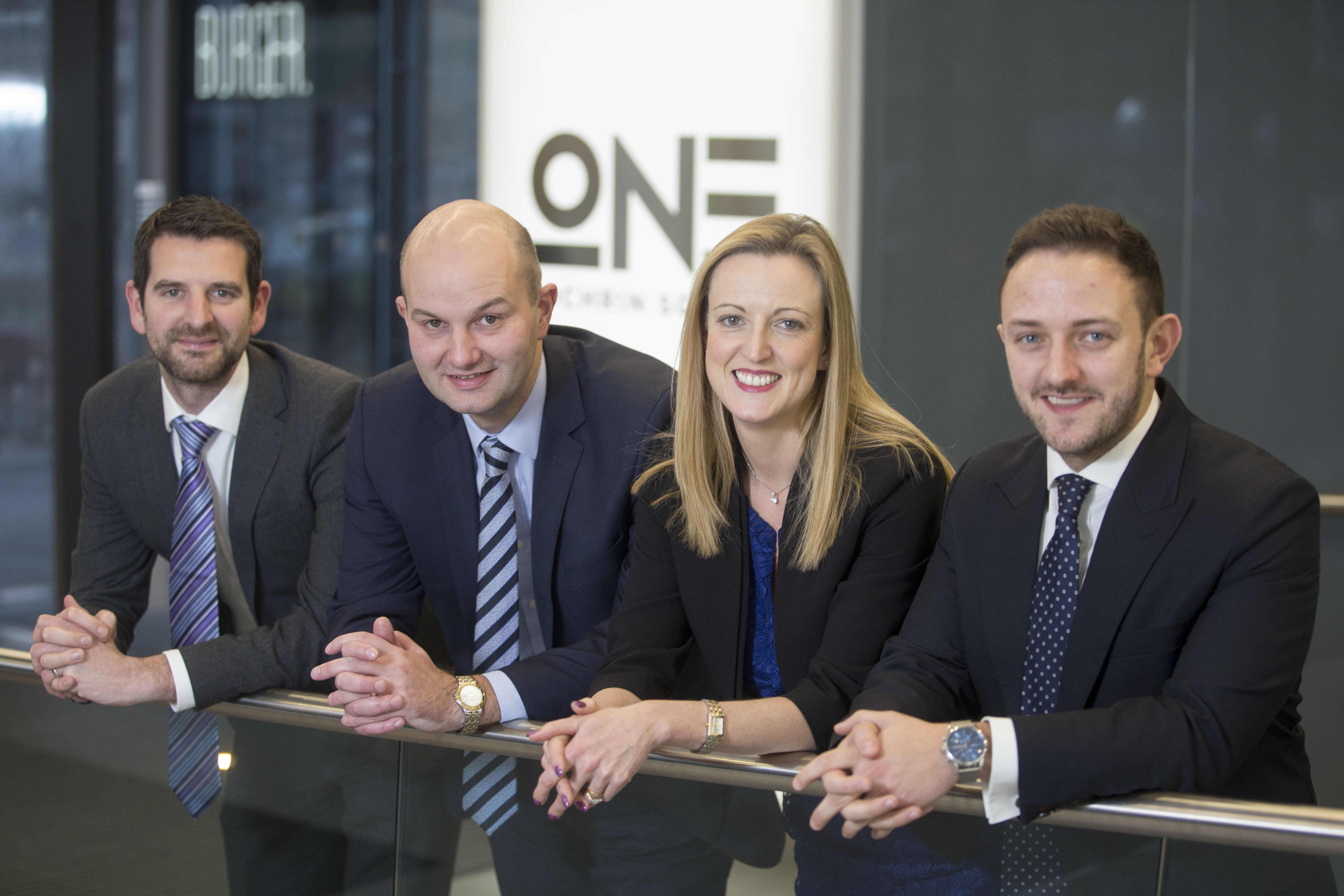 (left to right): Brian McMurray, Douglas Martin, Lyn Calder & Chris Thompson