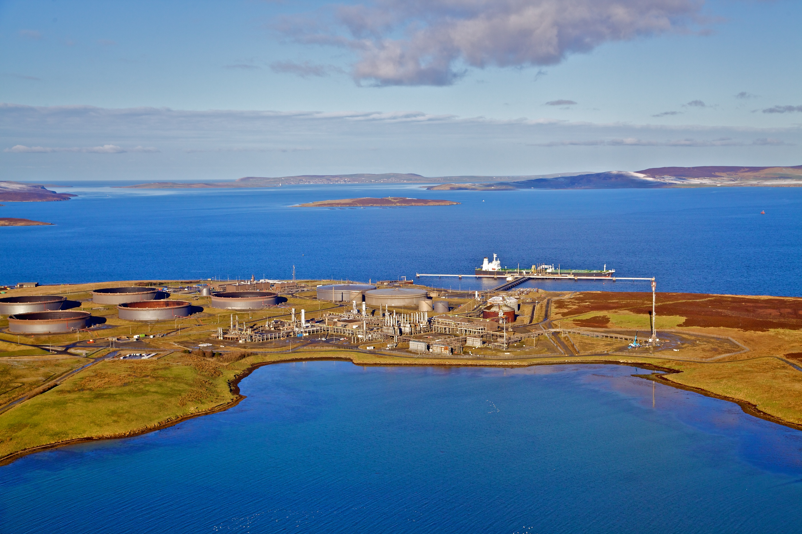 The oil processing terminal at Flotta