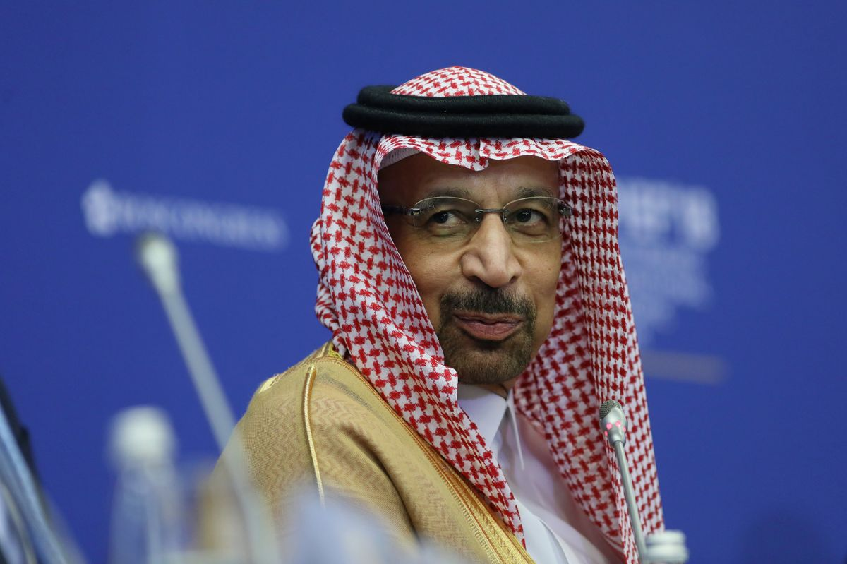 Khalid al-Falih, Saudi Arabia's energy minister. Photographer: Chris Ratcliffe/Bloomberg