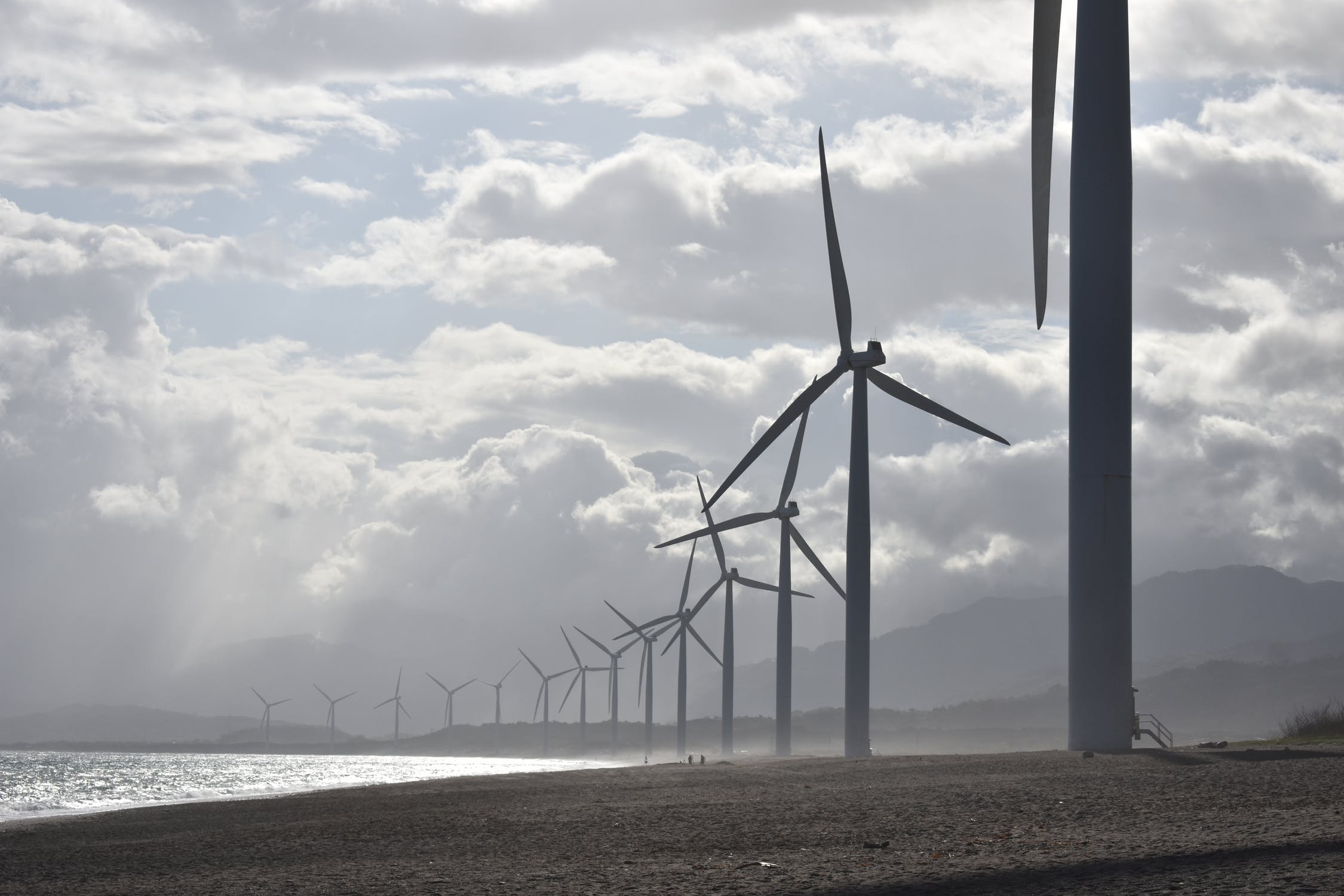 A file photo of a wind farm.