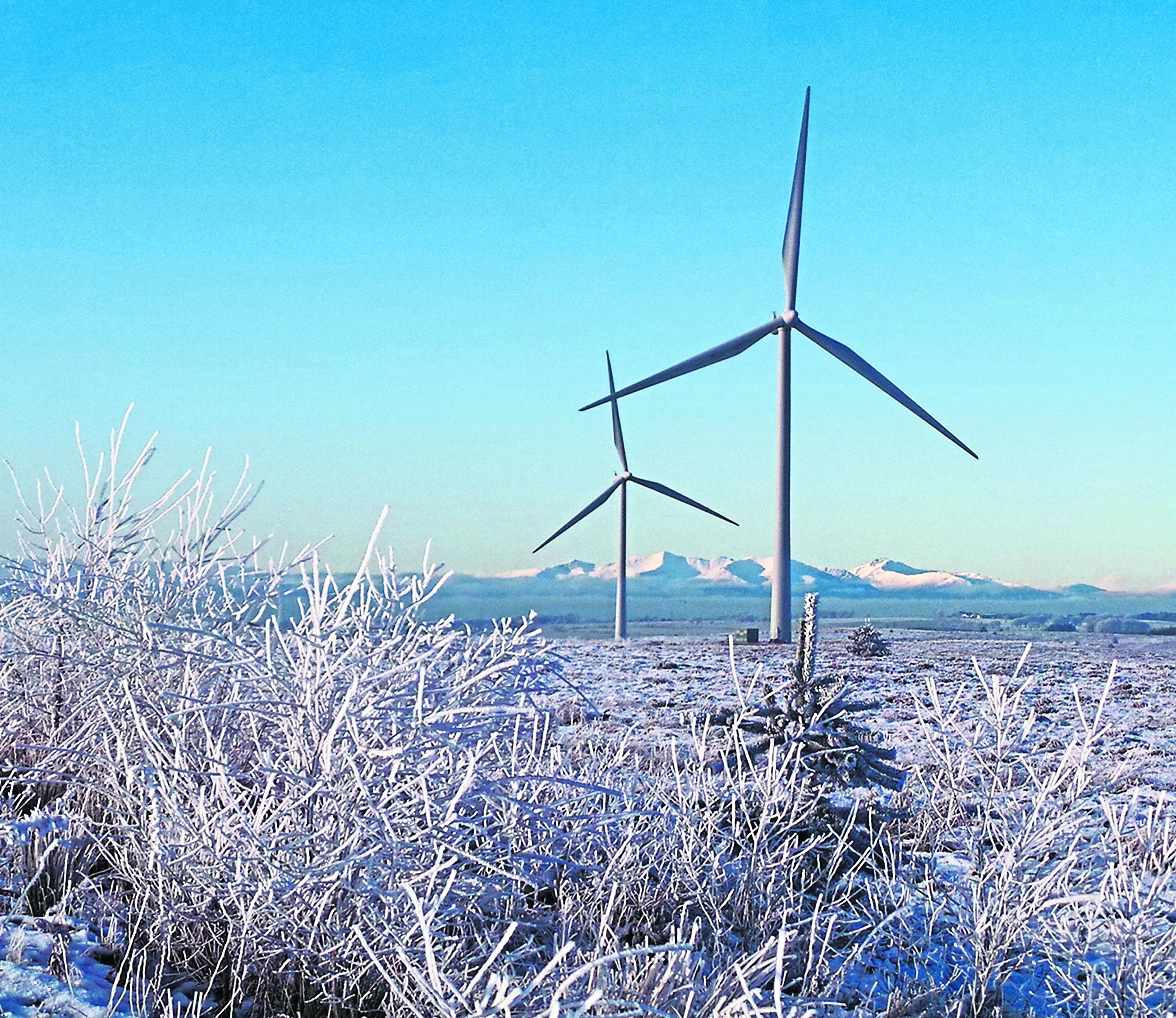 Anni Doyle's photo which was shortlisted for the Whitelee Windfarm.