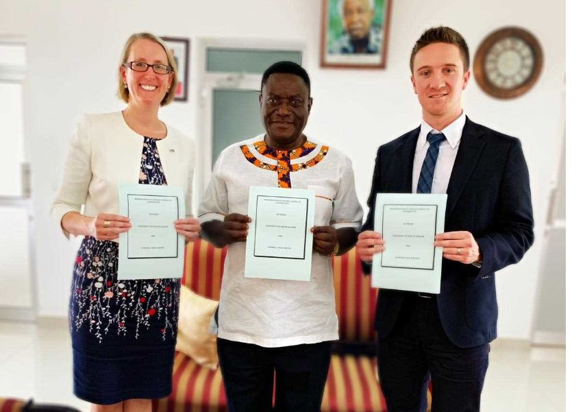 Norwell EDGE has signed an MOU with the University of Dar Es Salaam to explore joint learning opportunities for petroleum engineering students and oil and gas industry projects in Tanzania.  L-R H. E. Sarah Cooke, British High Commissioner to Tanzania, Prof. Rutinwa, Acting Vice Chancellor of the University of Dar es Salaam and Mike Adams, Co-founder of Norwell Edge