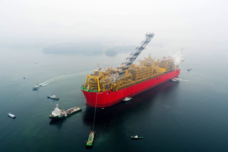 Rystad sees wide uncertainty on project costs. Pictured is Shell's Prelude, the world's largest floating LNG project