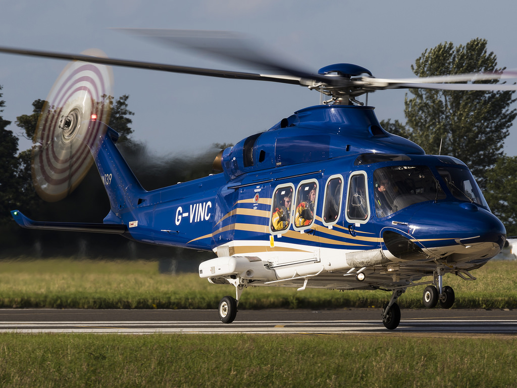 A Babcock-operated AW139 helicopter