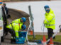 Courier News - Fife - Claire Warrender - Oil Spill at Limekilns - CR0006235 - Limekilns - Picture Shows: HM Coastguard and Search & Rescue personel direct traffic that were coming to the the beach but cannot access now - Tuesday 19th February 2019 -Steve Brown / DCT Media