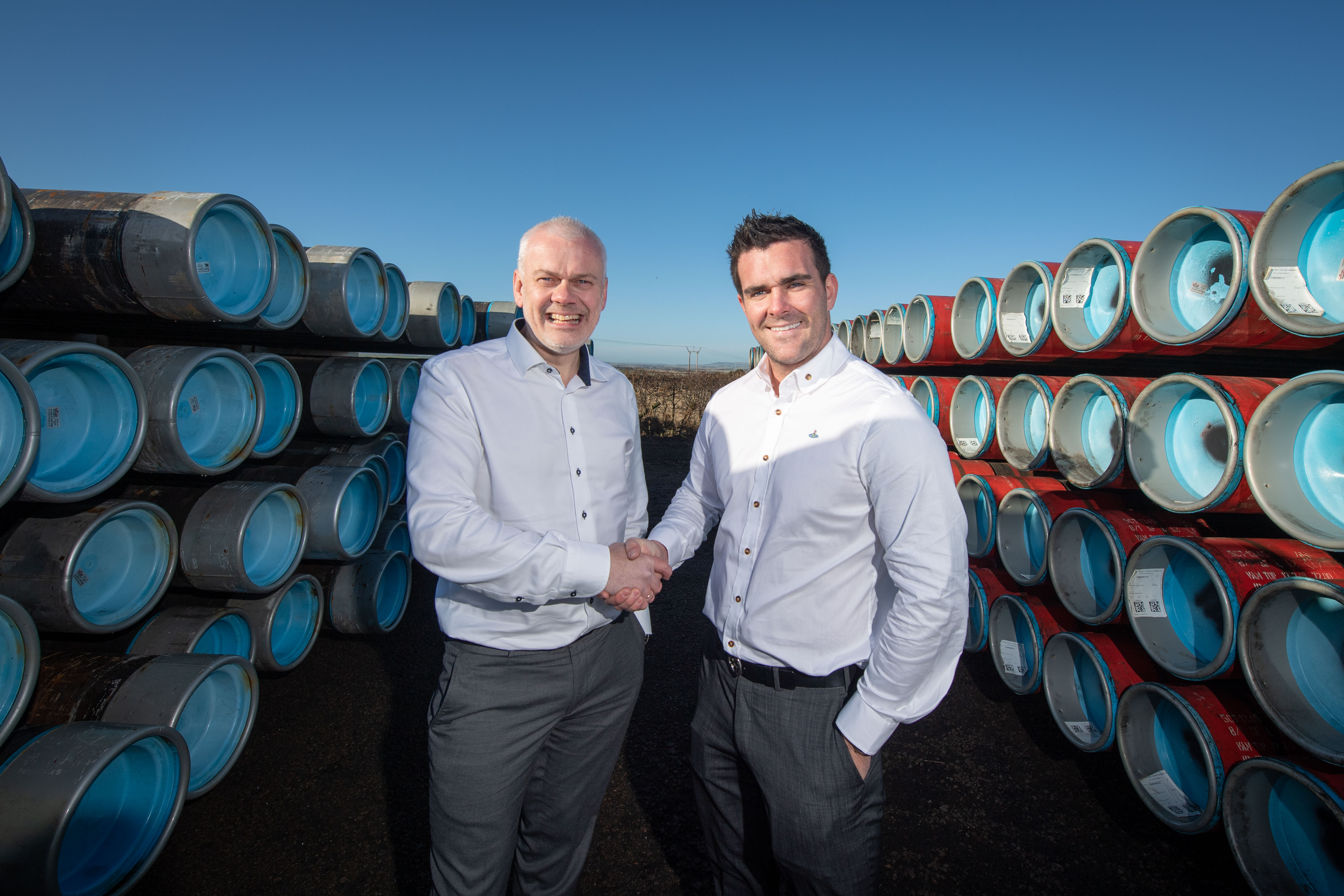 (L to R) of Rune Haddeland (CEO of Well Connection Group) and Glynn Geddie (MD of IOS).
