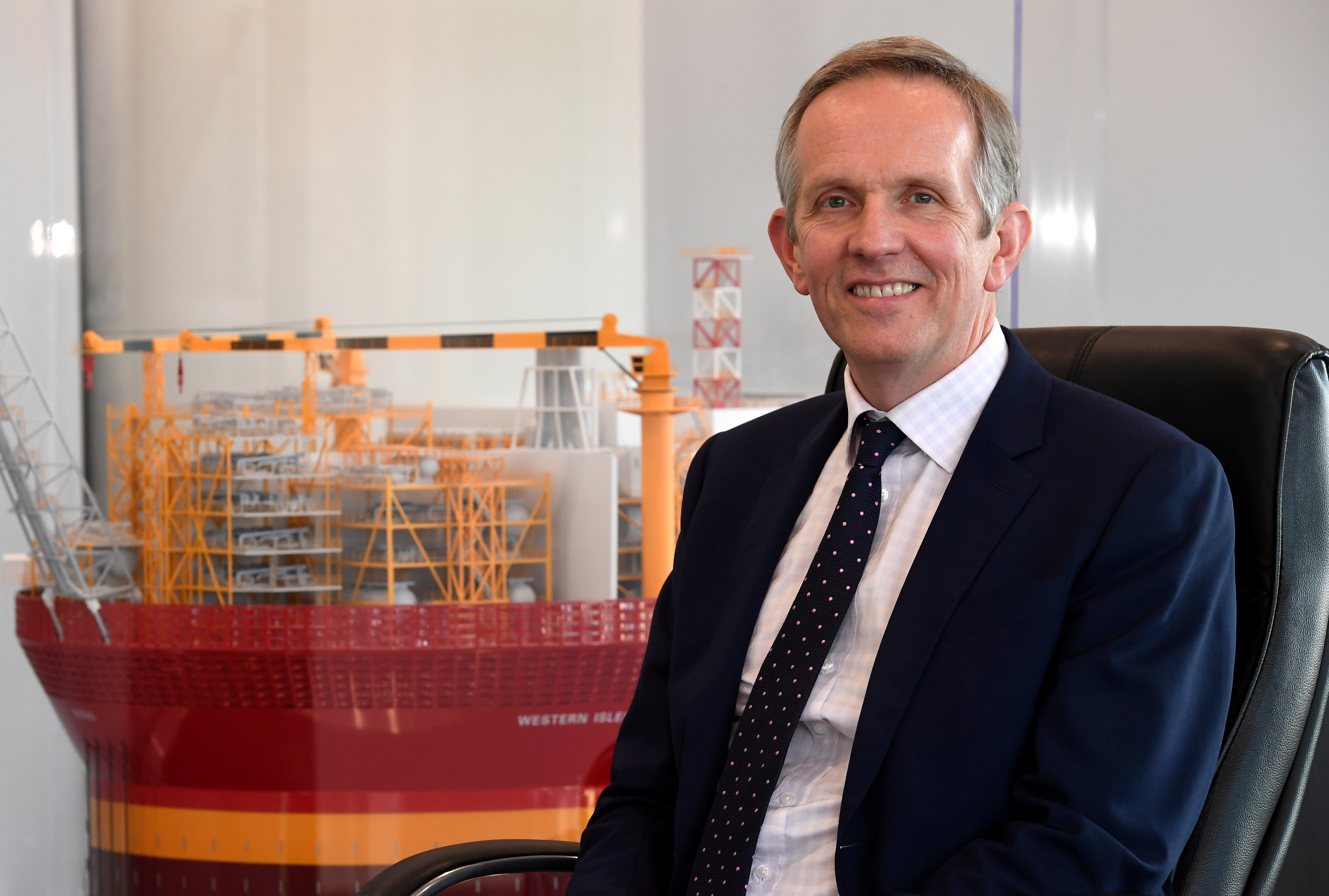 Alan Curran, chief executive of Verus Petroleum based at the Silver Fin building, Aberdeen.