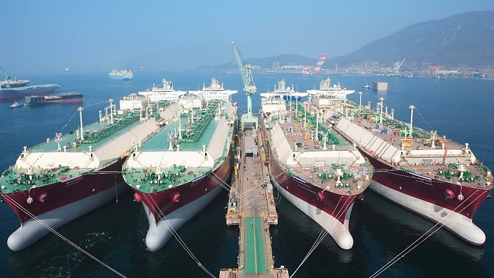 A Shell LNG shipping centre