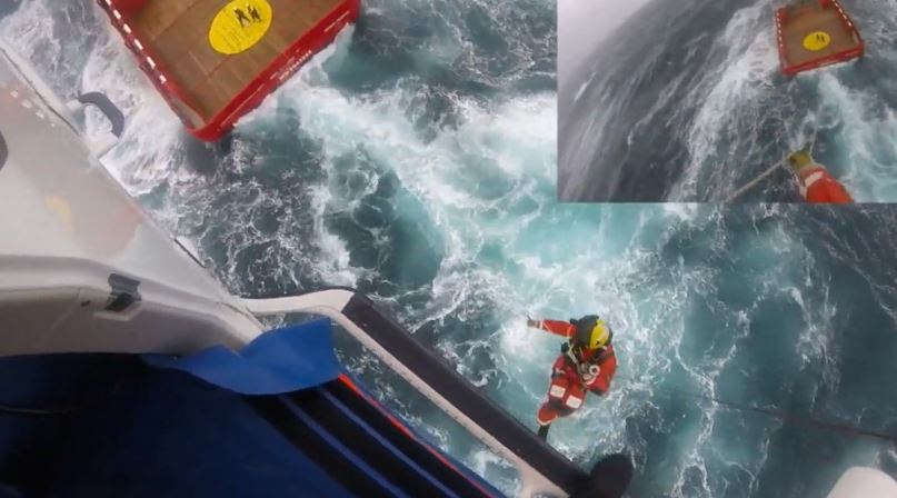 A search and rescue operation took place for a casualty on the Ocean Tay supply ship