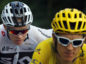 Britain's Geraint Thomas, wearing the overall leader's yellow jersey, and Britain's Chris Froome, ride during the fourteenth stage of the Tour de France cycling race over 188 kilometers (116.8 miles) with start in Saint-Paul Trois-Chateaux and Mende, France, Saturday, July 21, 2018. (AP Photo/Peter Dejong)