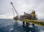 The Oseberg A offshore gas platform operated by Statoil ASA stands in the Oseberg North Sea oil field 140kms from Bergen, Norway, on Friday, Jan. 17, 2014.  Photographer: Kristian Helgesen/Bloomberg