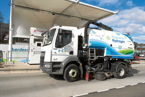 One of the council's hydrogen powered vehicles
