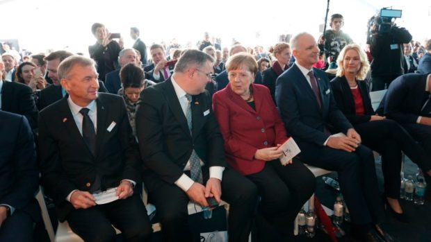 The Arkona wind farm was opened by German Chancellor Angela Merkel.