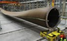 The world's first 100m turbine blade. Pic courtesy of LM Wind Power.