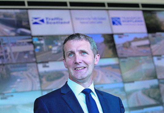 A83 repairs Cabinet Secretary for Transport, Infrastructure and Connectivity, Michael Matheson. (Handout from Transport Scotland) Picture Copyright Chris Watt Tel - 07887 554 193 info@chriswatt.com www.chriswatt.com Twitter: @chriswattphoto Instagram: chriswattphotography