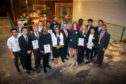 Some of the 2019 bursary winners with SPE Aberdeen Section Vice Chair, Kenny McAllister(centre)